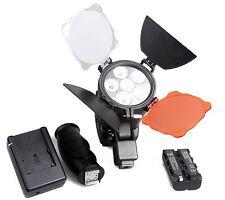 LED-5010 Camera Video Photo Light Lamp for Panasonic Canon Nikon + Battery