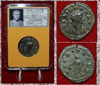 Roman Empire Coin GALLIENUS Ubertas Holding Purse On Reverse Antoninianus