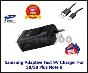 Genuine SAMSUNG 9V FAST AC Wall Charger For Galaxy S8 S9 S10 S20 Plus / Note 8 9