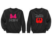 2 FOR 1 SALE: Mom Dad Shorts Bow Matching Couple Black Unisex Sweatshirt S-6X