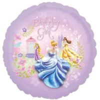 "Disney Princess Party Happy Birthday Girl 18"" Round Foil Balloon"
