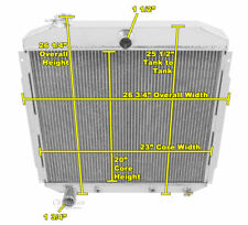3 Row Radiator For 53-56 Ford Truck