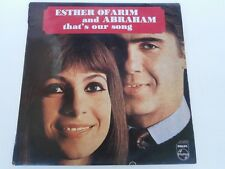 Esther Ofarim and Abraham - That's Our Song - LP