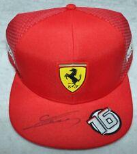 Charles Leclerc Signed 2019 Charles Leclerc Ferrari F1 #16 Cap / Hat