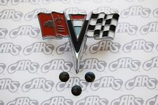 1963-1964 Chevrolet Corvette Front Nose Emblem with mounting hardware