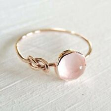 Gorgeous Women 18K Rose Gold Moonstone Wedding Engagement Party Ring Size 6-10