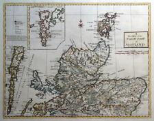 SCOTLAND, NORTH PART, Shetland, Orkney Is. R.Morden, original antique map 1722