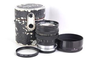 "EX+ Nikon Nippon Kogaku Nikkor-S.C 85mm f/1.5 8.5cm Black Paint ""C"" Contax RF"