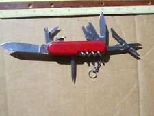 Wenger Nomad Swiss Army knife in red -  has pick and tweezers, Rare, lock blade