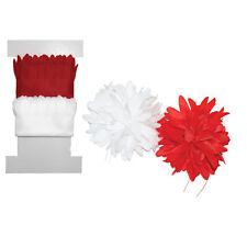 CHRYSANTHEMUM PULL FLOWERS Make Pull Ribbon Flowers 2 Yards LITTLE B 100418 NEW