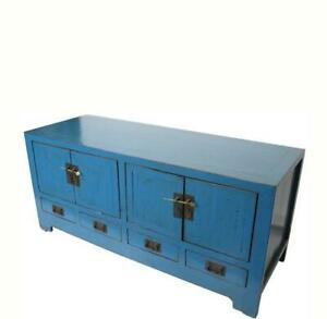 Low Blue Sideboard