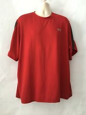 Under Armour Men's Jersey Shirt Red Crewneck Short Sleeves Size 2Xl Pre-owned