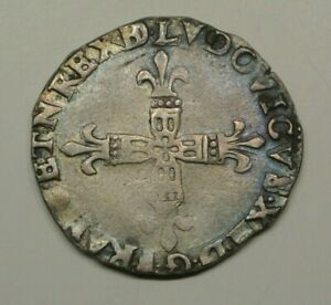 LOUIS XIII 1/4 ECU 1615 NAVARRE  BEARN