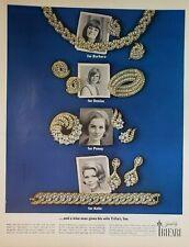 Lot 8 Vintage Trifari Jewelry Print Ads Valencia Pom Pom Southampton Cavalcade
