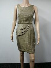NEW - London Times - Size 8P - Sleeveless Back Sheath Dress - Gold Brown - $99