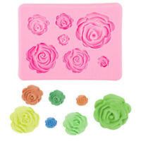 3D Roses Shaped Silicone Mould DIY Fondant Chocolate Cake Decor Baking Mold Tool