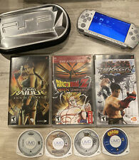 Sony PSP 2000 64MB Ice Silver Handheld Bundle W/ Games & Case
