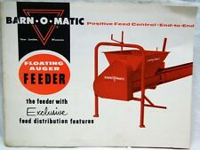 BARN-O-MATIC FLOATING AUGER FEEDER DAIRY CATTLE FARMING ADVERTISING BROCHURE