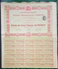 Dépt 75 - Paris - Très Bel Encadrement d'un Fabricant en Métallurgie  18/07/1902