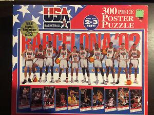 Unopened NBA Team USA Barcelona '92 Dream Team 300 Piece 2'x3' Poster Puzzle