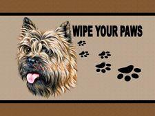 Cairn Terrier Dog Breed Wipe Your Paws Welcome Home Doormat Door Mat Floor Rug