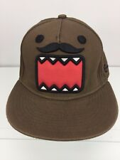 Domo Mustache Hat Official Licensed Brown Anime snapback cap Anime Funny