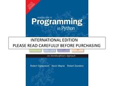 Introduction to Programming in Python: An Interdisciplinary Approach, 1e by Sedg