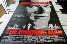 THE RUNNING MAN ROLLED POSTER ONE SHEET - 27 X 41 - 1987