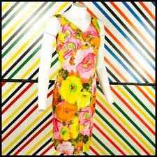 CALABASH HOUSE 1960s Hawaiian Floral DRESS UK 12 464 O