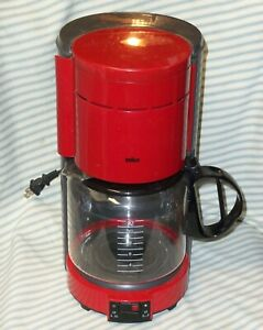 RED & GRAY BRAUN Aromaster 12-Cup KF400 Type 4063 Coffee Maker - MADE IN GERMANY