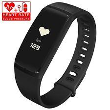 Fitness Tracker Heart Rate Monitor Bluetooth Smart Bracelet Waterproof Pedometer