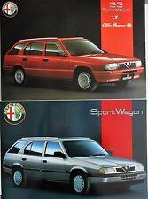 Alfa Romeo 1.7 Sportwagon 33 Cloverleaf Quadrifoglio S1 & S3 Original Poster x 2