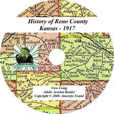 1917 - History & Genealogy RENO County Kansas KS Ancestry CD DVD