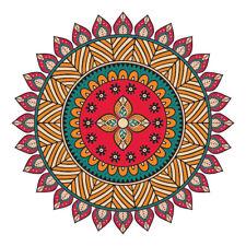 Multi-Coloured Mandala Design Sticker Car,Van, Fridge, Laptop, Wall Art Decal