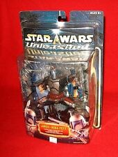Star Wars 2002 UNLEASHED JANGO & BOBA FETT Statuette New Figure Clone Wars