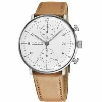 Junghans Mens Max Bill Chronoscope Automatic Chronograph Watch 027/4502.04 NEW