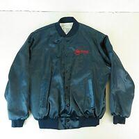 Vintage Northwest Airlines Large Satin Jacket - Pro Fit USA Made Button Up Coat