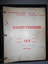 Massey Ferguson tracteur 165 : catalogue pièces 1966