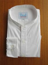 1930s 1940s Peaky Blinders Vintage Style Collarless White Shirt 100% Cotton