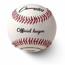 Champion Sports Leather Baseball Set: Dozen Genuine Leather Official Pack of 12