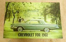 1961 CHEVROLET US DEALER SHOWROOM SALES SPEC BROCHURE BK2T