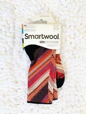 Womens Smartwool PhD Outdoor Socks Size Medium brown orange merino wool