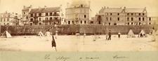 France, Brest, la plage à marée basse Vintage albumen print,  Tirage albuminé