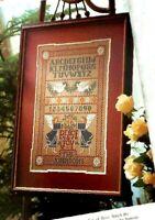 Cross Stitch Pattern ANGELS Of PEACE and JOY Sampler Alphabet Number Birds