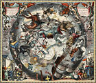 1660+Celestial+Chart+of+the+Zodiac+Andreas+Cellarius+11%22x13%22+Map+Art+Astrology