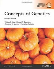 Concepts of Genetics 11E by William Klug,Spencer, Cummings 11th (Global Edition)