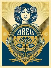 "Obey Peace Holiday 2016 Screen Print by Shepard Fairey Signed 18"" x 24"" Ed 575"