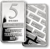 (1)  5  GRAM BAR  NORTHWEST TERRITORIAL MINT - .999 FINE SILVER  #T3288999