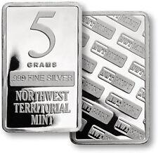 (1)  5  GRAM BAR  NORTHWEST TERRITORIAL MINT - .999 FINE SILVER  #T241677