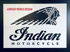Indian Motorcycle A5/A4 Stencil Airbrush Crate Sign Wall Art Garage Pub Reusable